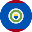 ball, belize, country, flag, grenade icon