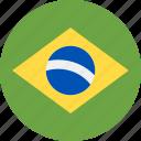 ball, brazil, country, flag, grenade icon