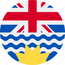 ball, british, columbia, country, flag icon