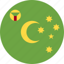 ball, cocos, country, flag, island icon