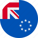 cook, country, flag, grenade, islands icon