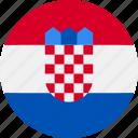 ball, country, croatia, flag, grenade icon