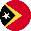ball, country, east, flag, timor icon