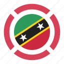 country, flag, location, nation, navigation, pin, saint kitts and nevis icon