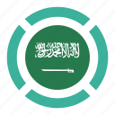 country, flag, location, nation, navigation, pin, saudi arabia icon