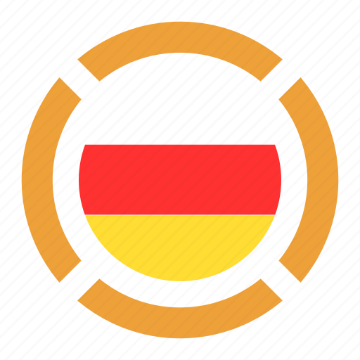 country, flag, location, nation, navigation, pin, south ossetia icon