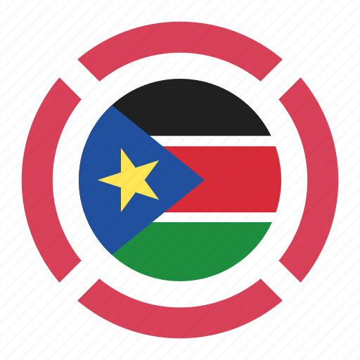 country, flag, location, nation, navigation, pin, south sudan icon