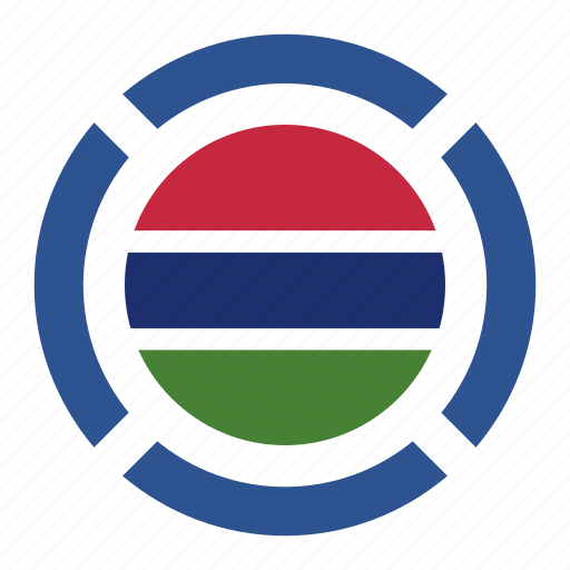 country, flag, location, nation, navigation, pin, the gambia icon