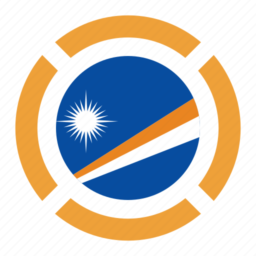 country, flag, location, nation, navigation, pin, the marshall islands icon