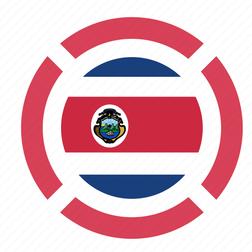 costa rica, country, flag, location, nation, navigation, pin icon