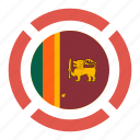 country, flag, location, nation, navigation, pin, sri lanka icon