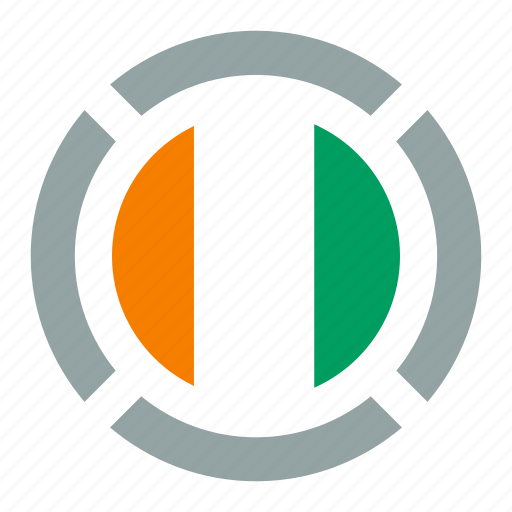 cote d'ivoire, country, flag, location, nation, navigation, pin icon