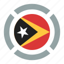 country, east timor, flag, location, nation, navigation, pin icon