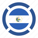 country, el salvador, flag, location, nation, navigation, pin icon