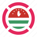 abkhazia, country, flag, location, navigation, pin icon