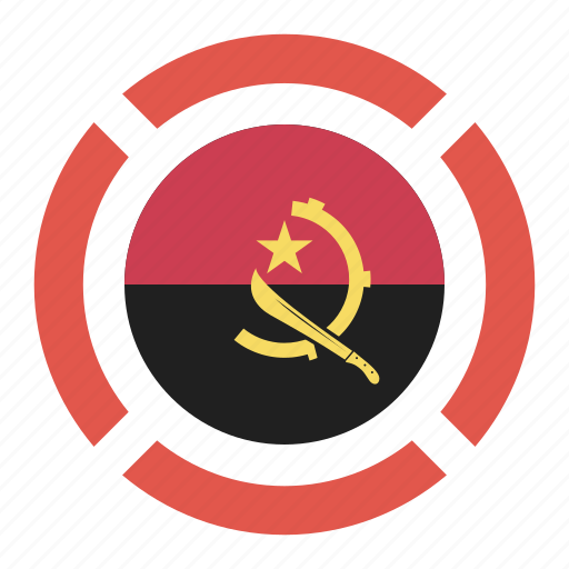 angola, country, flag, location, nation, navigation, pin icon