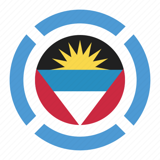 antigua and barbuda, country, flag, location, nation, navigation, pin icon