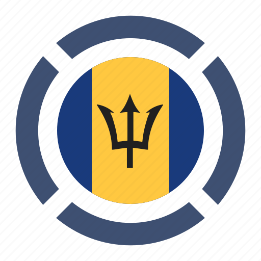 barbados, country, flag, location, nation, navigation, pin icon