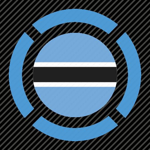 botswana, country, flag, location, nation, navigation, pin icon