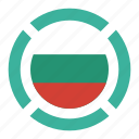 bulgaria, country, flag, location, nation, navigation, pin