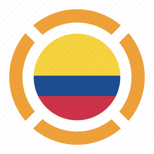colombia, country, flag, location, nation, navigation, pin icon