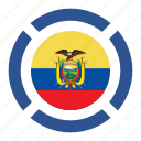 country, ecuador, flag, location, nation, navigation, pin icon