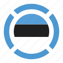 country, estonia, flag, location, nation, navigation, pin icon