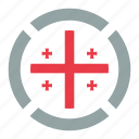 country, flag, georgia, location, nation, navigation, pin icon
