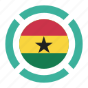 country, flag, ghana, location, nation, navigation, pin