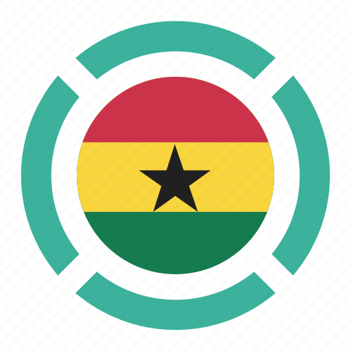 country, flag, ghana, location, nation, navigation, pin icon