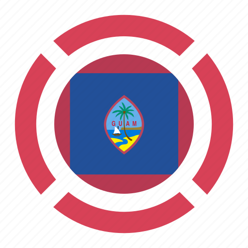 country, flag, guam, location, nation, navigation, pin icon