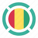 country, flag, guinea, location, nation, navigation, pin icon