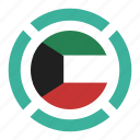 pin, country, nation, flag, location, kuwait, navigation