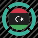 country, flag, libya, location, nation, navigation, pin icon