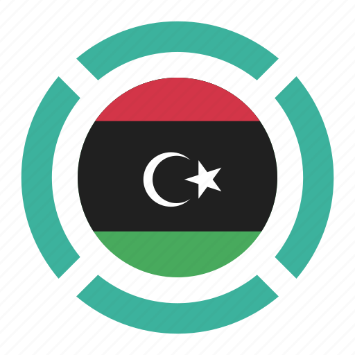 country, flag, libya, location, nation, navigation, pin icon
