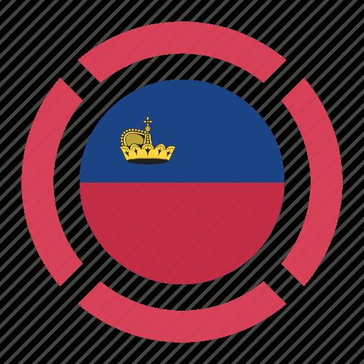 country, flag, liechtenstein, location, nation, navigation, pin icon