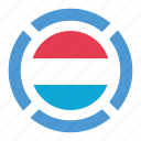 country, flag, location, luxembourg, nation, navigation, pin icon