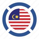 country, flag, location, malaysia, nation, navigation, pin icon