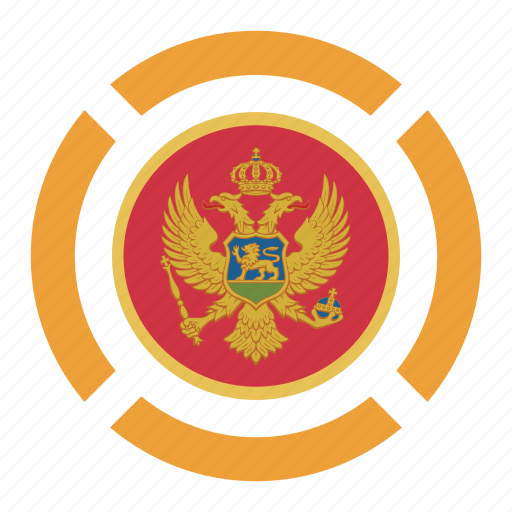 country, flag, location, montenegro, nation, navigation, pin icon