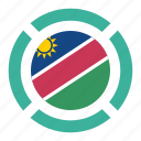 country, flag, location, namibia, nation, navigation, pin icon