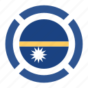 country, flag, location, nation, nauru, navigation, pin icon