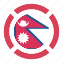 country, flag, location, nation, navigation, nepal, pin icon
