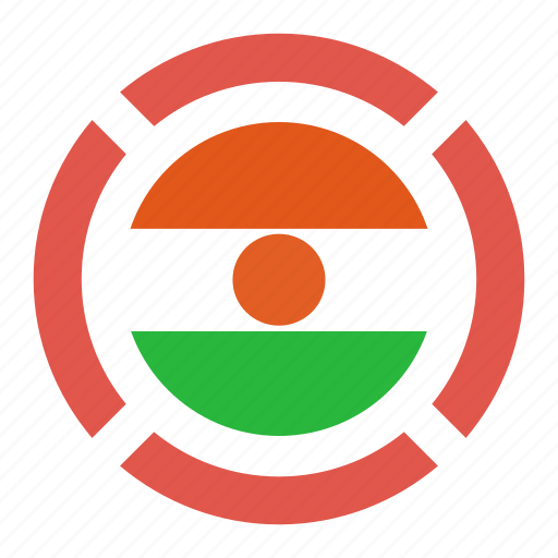 country, flag, location, nation, navigation, niger, pin icon