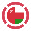 country, flag, location, nation, navigation, oman, pin icon