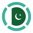 country, flag, location, nation, navigation, pakistan, pin icon