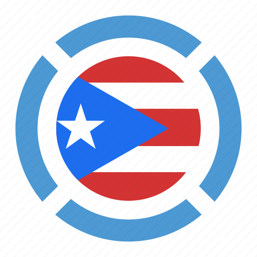 country, flag, location, nation, navigation, pin, puerto ricol icon