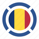 romania, pin, country, nation, flag, location, navigation