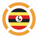 country, flag, location, nation, navigation, pin, uganda icon