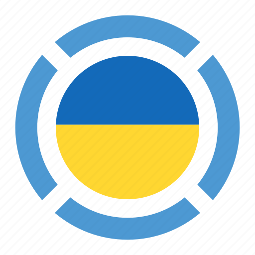country, flag, location, nation, navigation, pin, ukraine icon