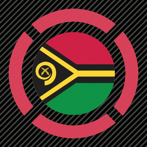 country, flag, location, nation, navigation, pin, vanuatu icon